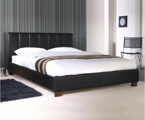 Limelight Pulsar Black Faux Leather Bed Frame