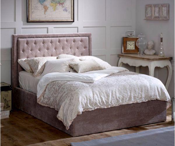 Limelight Rhea Mink Ottoman Fabric Bed Frame