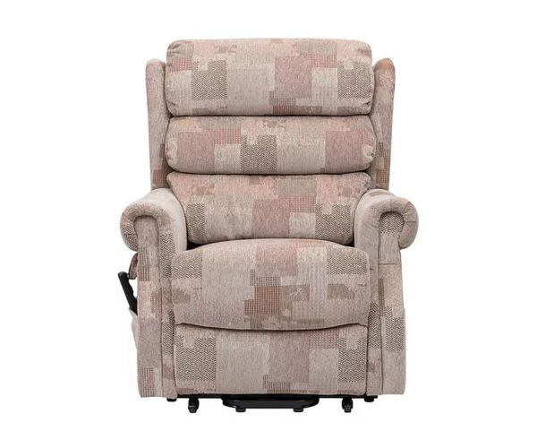 GFA Lincoln Autum Mosaic Dual Motor Fabric Rise Recliner Chair