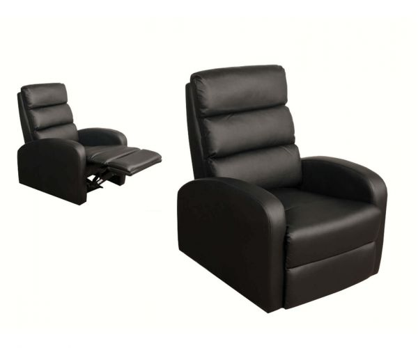 Annaghmore Livorno Black Leather Reclining Armchair