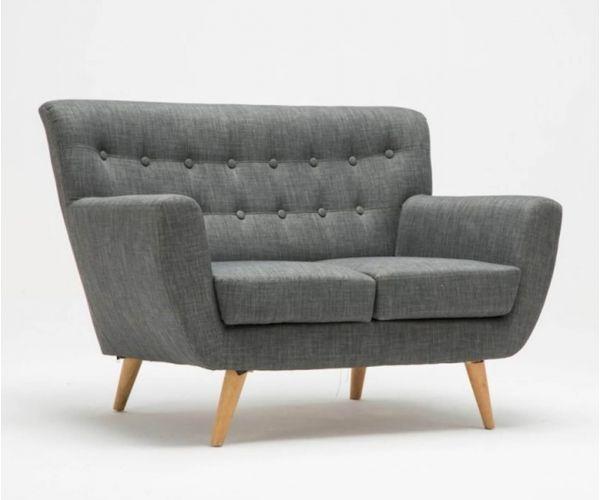 Birlea Furniture Loft Grey Fabric 2 Seater Sofa