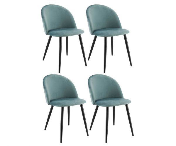 Derrys Furniture Lotus Blue Mist Chair in Set of 4