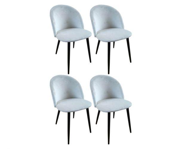 Derrys Furniture Lotus Cream Chair in Set of 4
