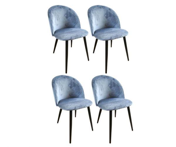 Derrys Furniture Lotus Navy Chair in Set of 4