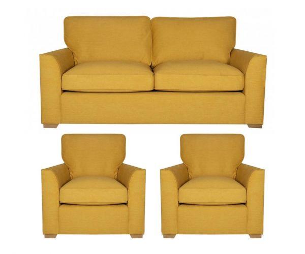 Buoyant Upholstery Louis 3+1+1 Standard Back Sofa Suite
