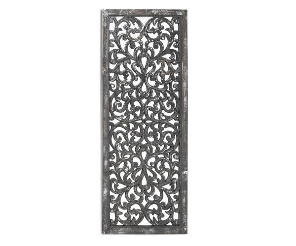 Louis Carved Antique Metallic Lattice Mirror