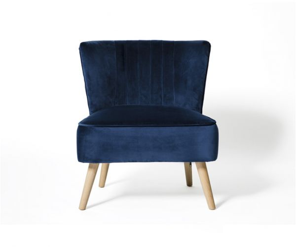 Furniture Line Louis Blue Fabric Accent Chair