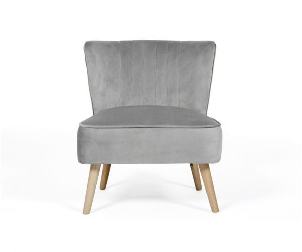 Furniture Line Louis Grey Fabric Accent Chair
