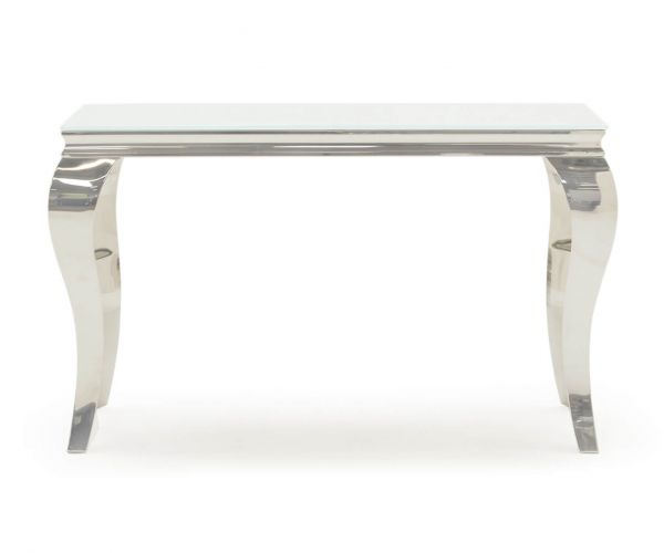 Vida Living Louis White Console Table