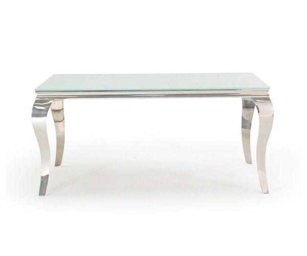 Vida Living Louis Medium Glass Dining Table - White