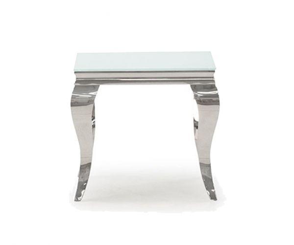 Vida Living Louis End Table - White