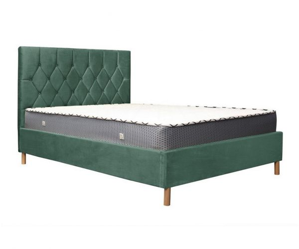 Birlea Furniture Loxley Green Velvet Fabric Ottoman Bed Frame