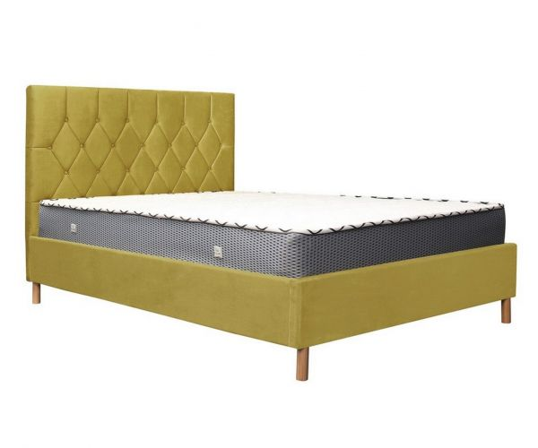 Birlea Furniture Loxley Mustard Fabric Ottoman Bed Frame