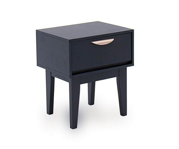 Vida Living Luna Blue Painted 1 Drawer Bedside Table