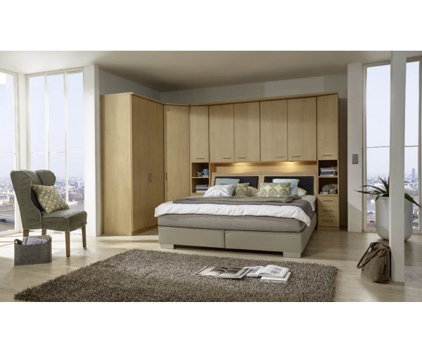 Wiemann Luxor4 Wooden Overbed Unit Suggestion 3&4