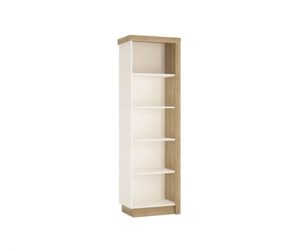 FTG Lyon Riviera Oak and White High Gloss Bookcase (LH)