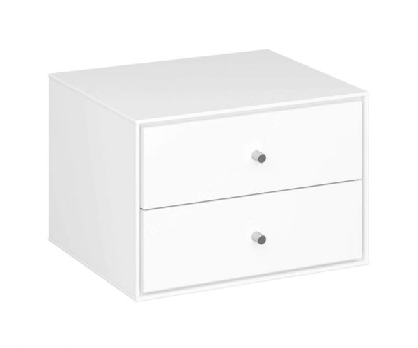 Steens Maga White 2 Drawer Hanging Unit