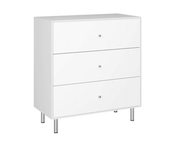 Steens Maga White 3 Drawer Chest