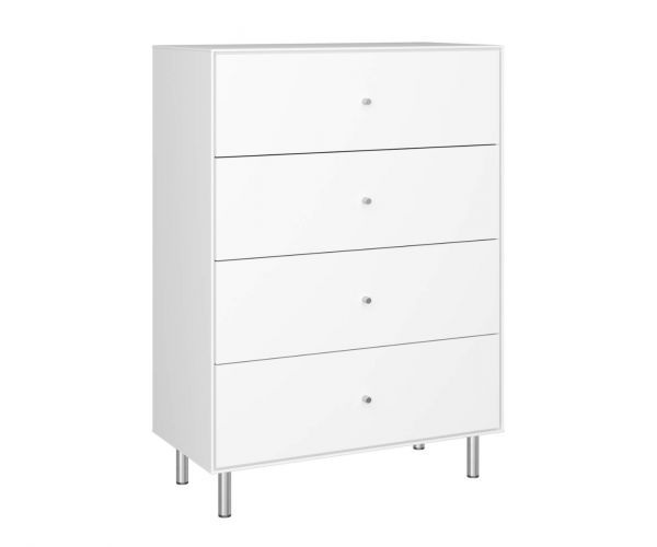 Steens Maga White 4 Drawer Chest