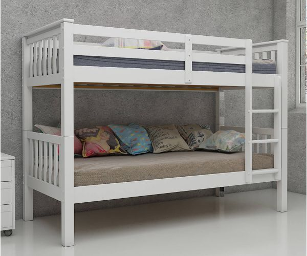 Vida Living Magnus White Finish Bunk Bed