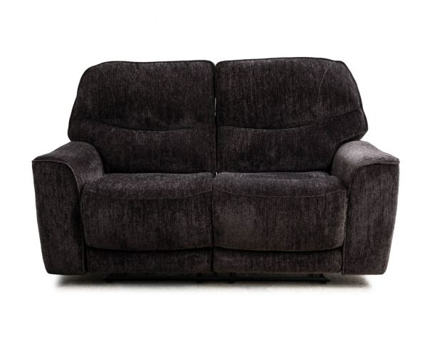Sweet Dreams Maine Raven Fabric Manual Recliner 2 Seater Sofa