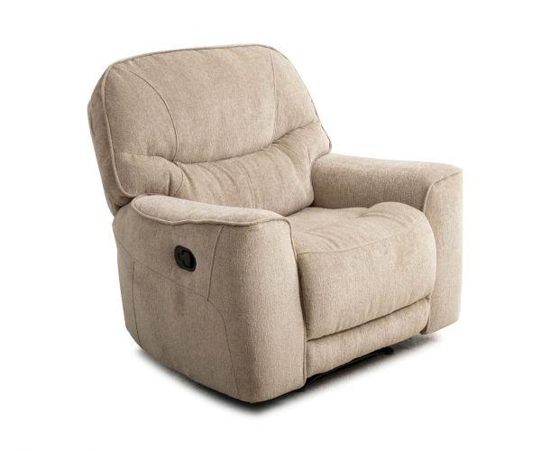 Sweet Dreams Santorini Oyster Fabric Manual Recliner Chair