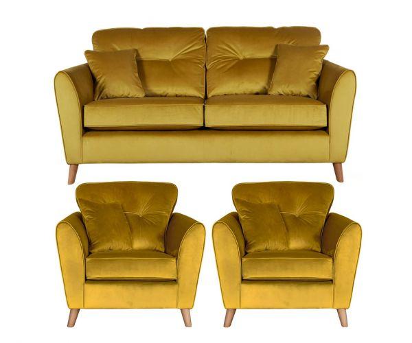 Buoyant Upholstery Malo 3+1+1 Sofa Suite