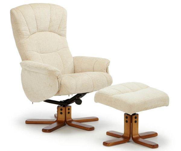 Serene Furnishings Mandal Fabric Swivel Recliner Chair