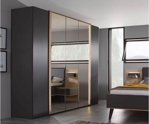 Rauch Marcella Graphite 5 Door 3 Mirror Wardrobe