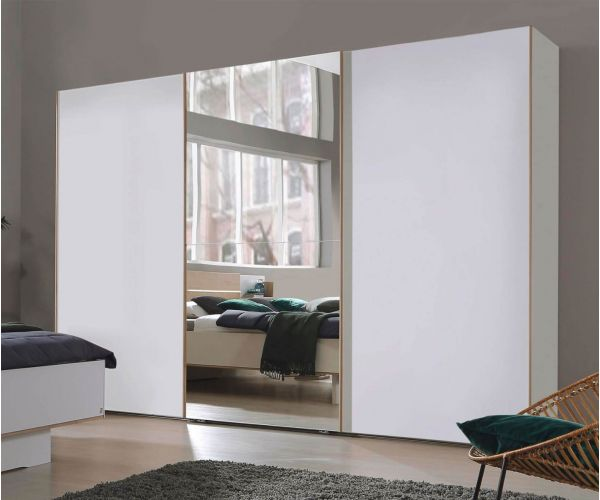 Rauch Marcella Graphite 3 Sliding Door 1 Mirror Wardrobe