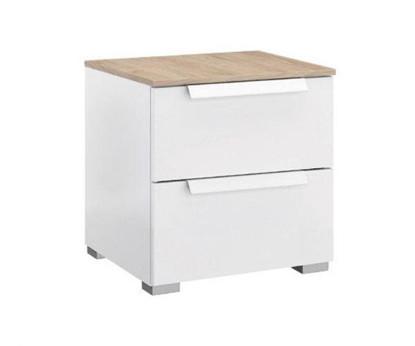 Rauch Marcella Alpine White 2 Drawer Bedside Table