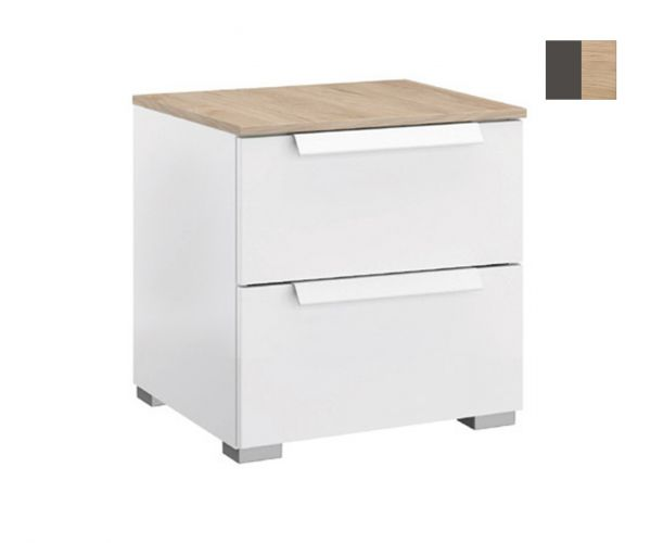 Rauch Marcella Graphite 2 Drawer Bedside Table
