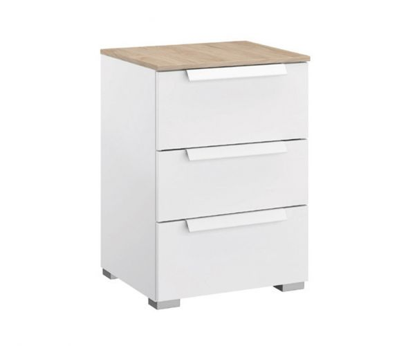 Rauch Marcella Alpine White 3 Drawer Bedside Table