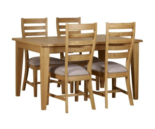 Mark Webster Westport Small Rectangular Extending Dining Set with 4 Dining Chairs