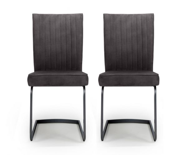 Shankar Marlin Cantilever Grey Dining Chair in Pair