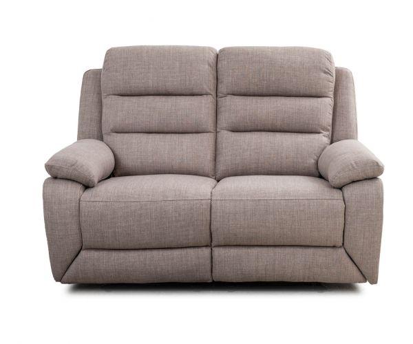 Sweet Dreams Naples Stone Fabric Manual Recliner 2 Seater Sofa