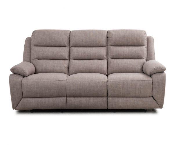 Sweet Dreams Naples Stone Fabric Manual Recliner 3 Seater Sofa