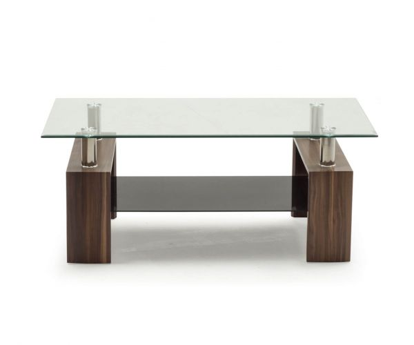 Vida Living Maya Clear Glass Coffee Table