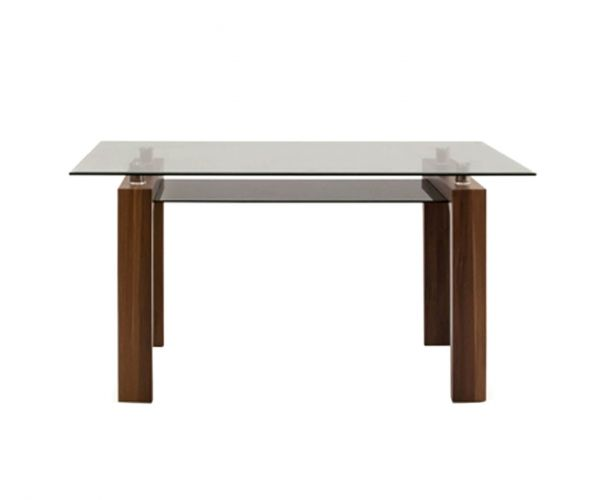 Vida Living Maya Clear Glass Dining Table only