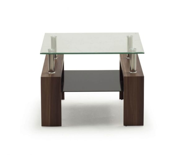 Vida Living Maya Clear Glass End Table