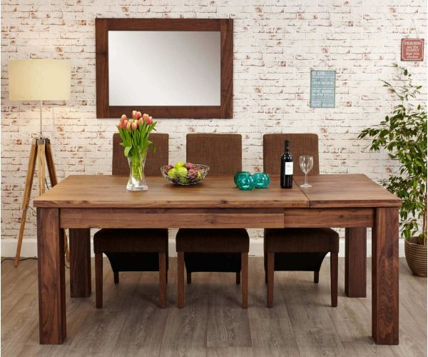 Baumhaus Mayan Walnut Extending Dining Table Only