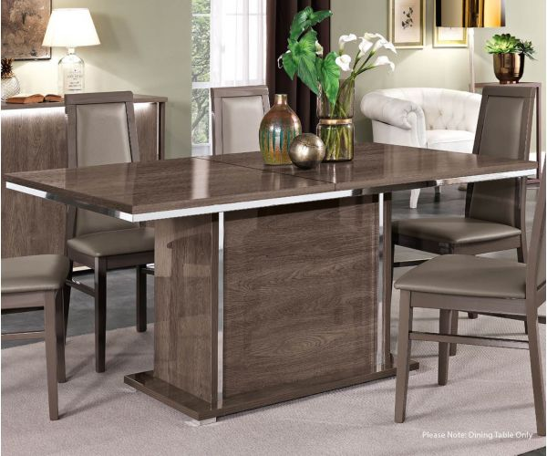 MCS Dover Brown Finish Fixed Top Dining Table