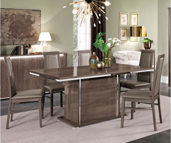 MCS Dover Brown Finish Extension Dining Table