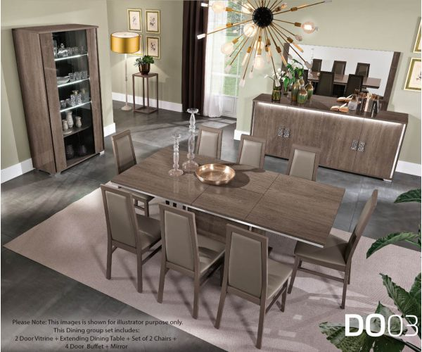 MCS Dover Brown Finish Dining Room Set