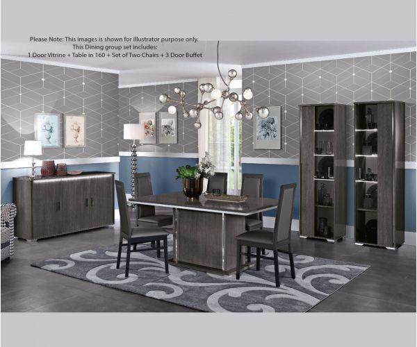MCS Dover Grey Finish Dining Room Set