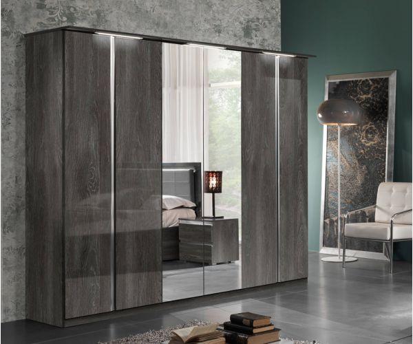 MCS Oxford Grey Finish 6 Door Wardrobe