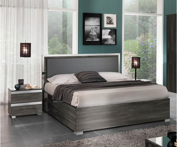 MCS Oxford Grey Finish Storage Bed Frame