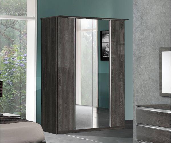 MCS Oxford Grey Finish 4 Door Wardrobe
