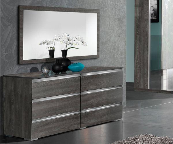 MCS Oxford Grey Finish Mirror