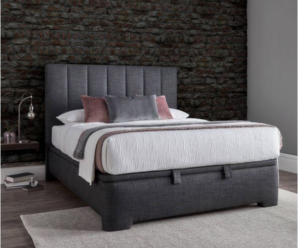 Kaydian Beds Medburn Pendle Slate Fabric Ottoman Bed Frame